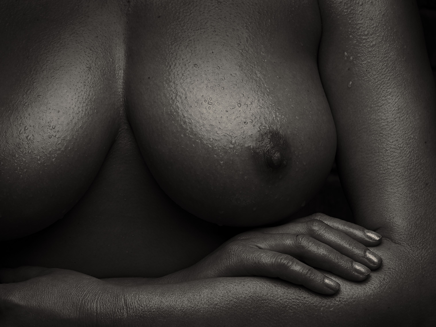 large nude breast and nipple
